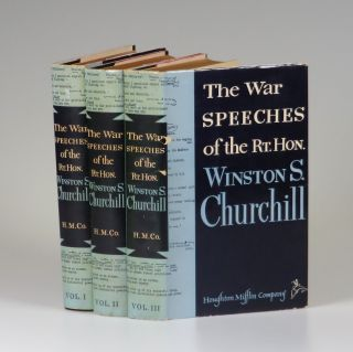 """The War Speeches of the Rt. Hon. Winston S. Churchill, the exceptionally scarce U.S. issue of the three-volume """"definitive"""" edition published during Churchill's second and final premiership"""