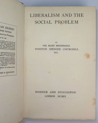 Liberalism and the Social Problem, housed in a quarter Morocco goatskin Solander case