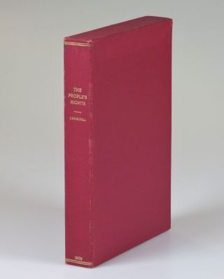 The People's Rights, the exceptionally rare Daily News binding variant of the first issue, first state